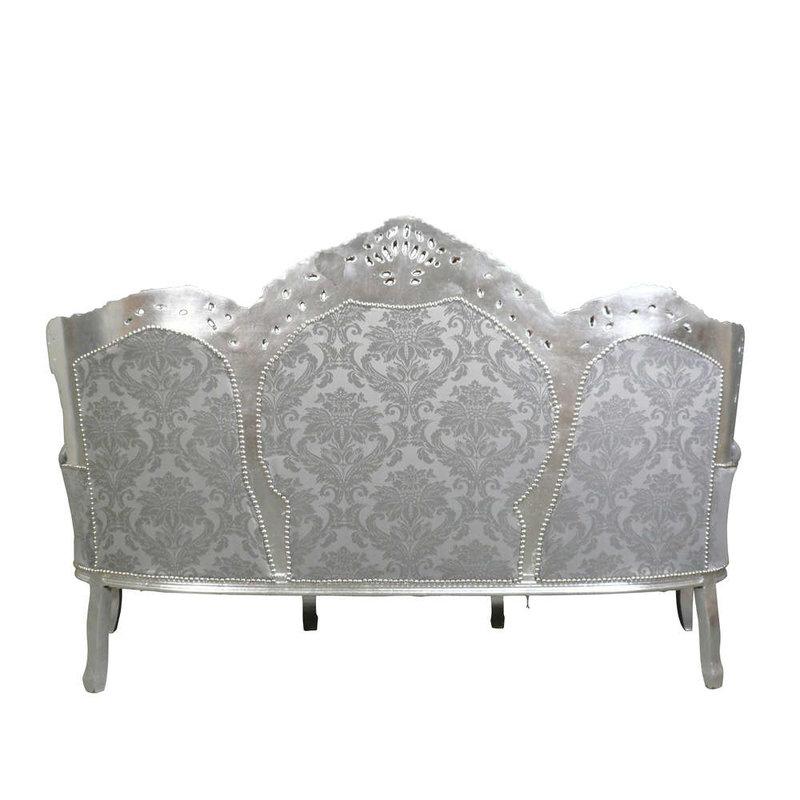 LC Baroque sofa Italia Venice silver gray