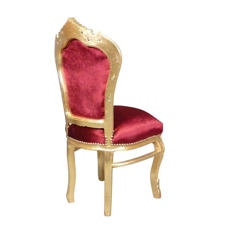 LC Dining room chair Carmen gold red