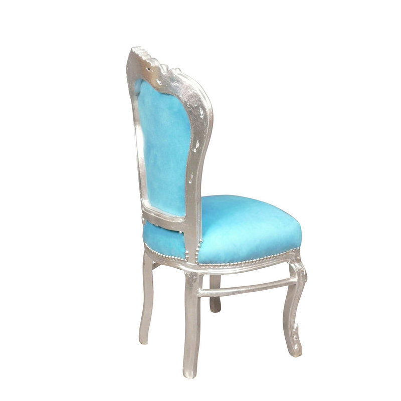 LC Dining room chair aqua blue barok
