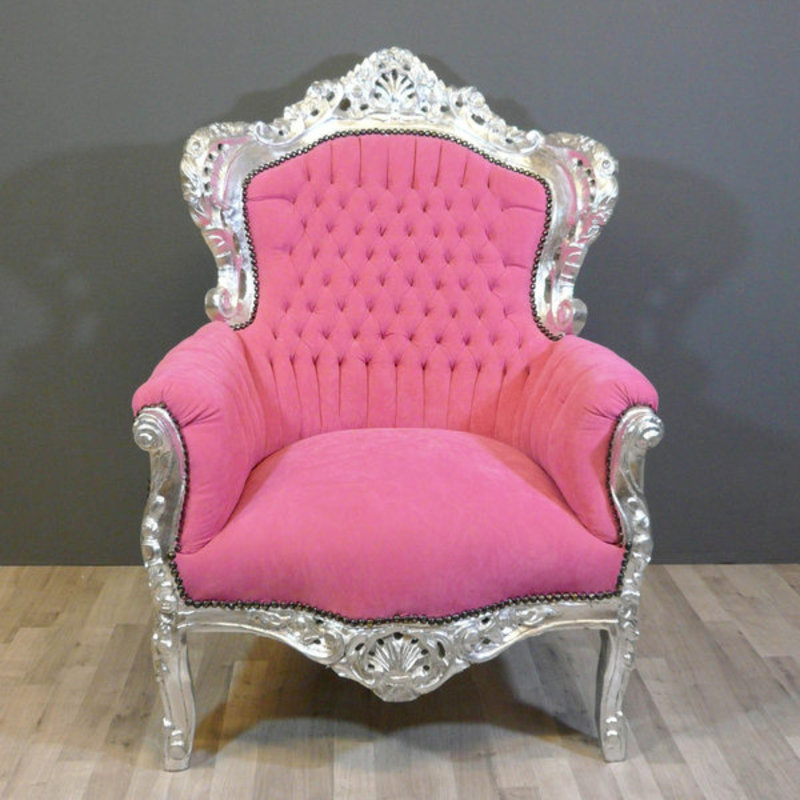 LC Lady Pink barok fauteuil