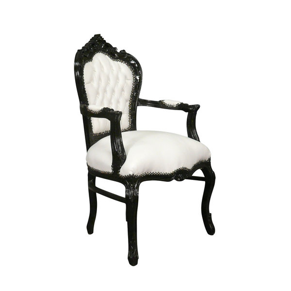 LC Baroque armchair pierrot black and white