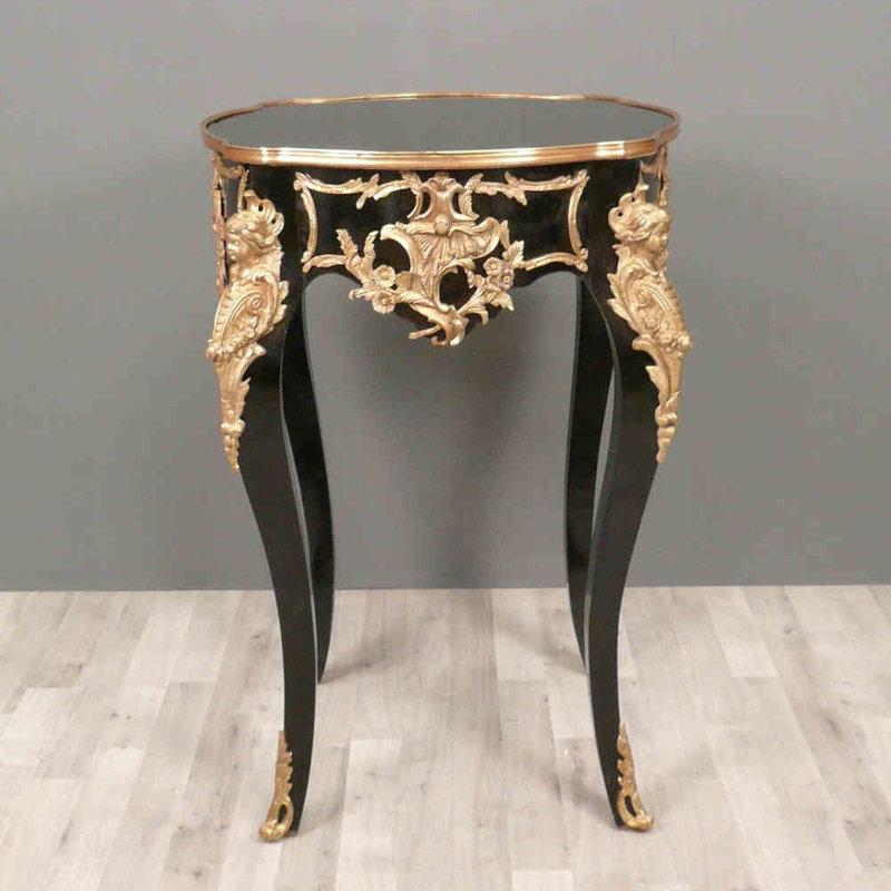 LC Empire tafel boulle zwart goud