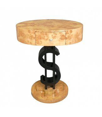 Royal Decoration   ART DECO SIDE TABLE DOLLAR