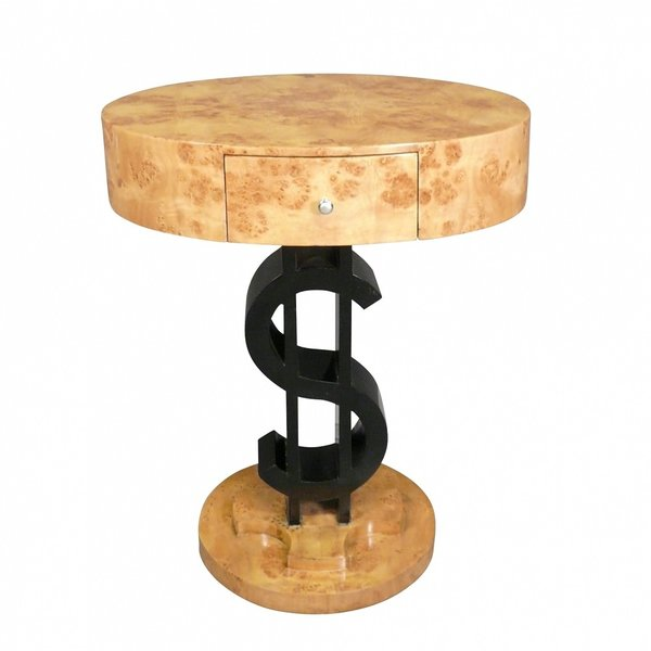 Royal Decoration   ART DECO SIDE TABLE DOLLAR