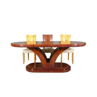 LC TABLE ART DECO EN BOIS DE ROSE