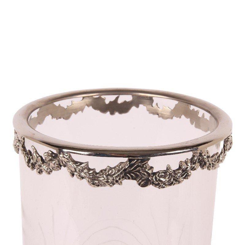 Dutch & Style Windlicht Tara 45.5 cm zilver