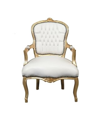LC Chaise baroque dame or ciel blanc