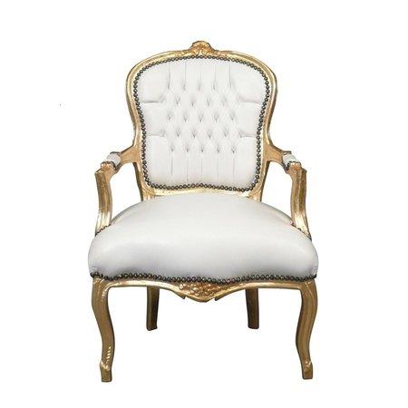LC Barok  stoeltje  lady goud wit sky