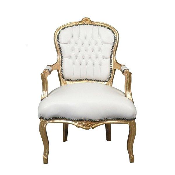 LC Chaise baroque dame or ciel blanc
