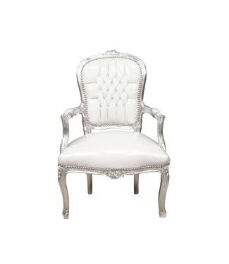 LC Baroque chair lady silver white sky