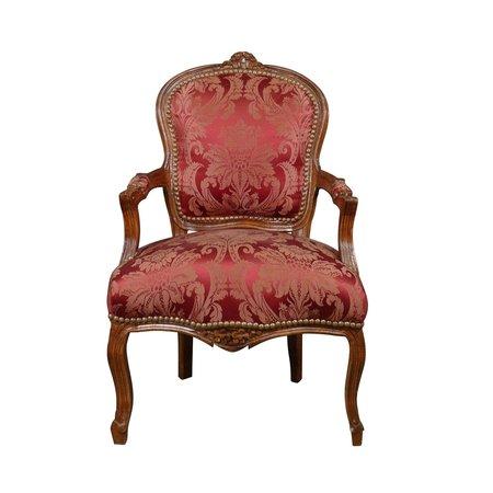 LC Chaise baroque femme acajou vin rouge