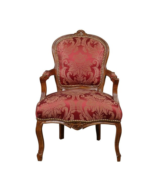 LC Baroque ladies chair mahogany wine red