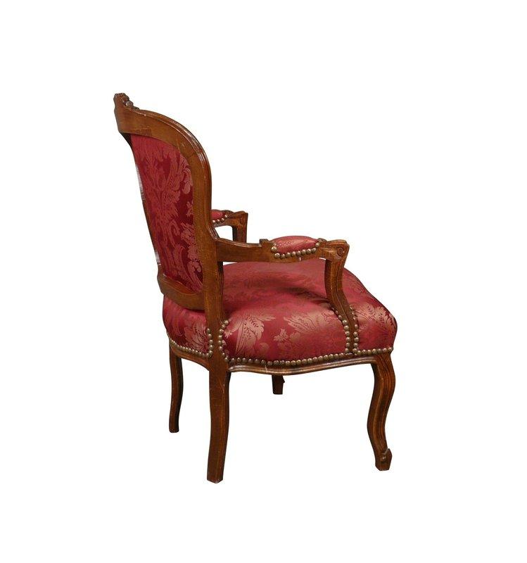 LC Baroque ladies chair mahogany wine red