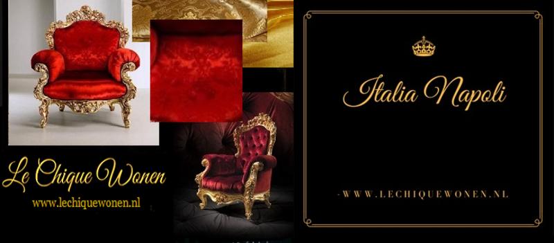 LC Barok dames stoel mahonie wijnrood