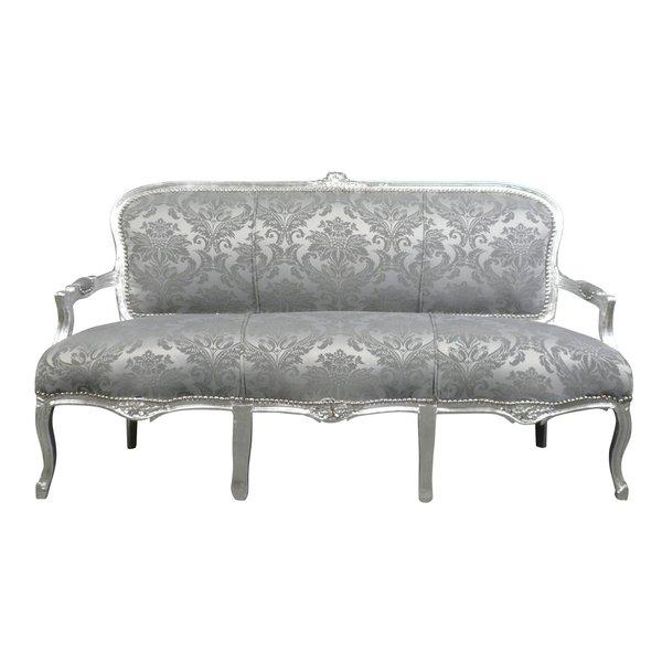 LC Barok sofa Italia Venetië zilver grijs
