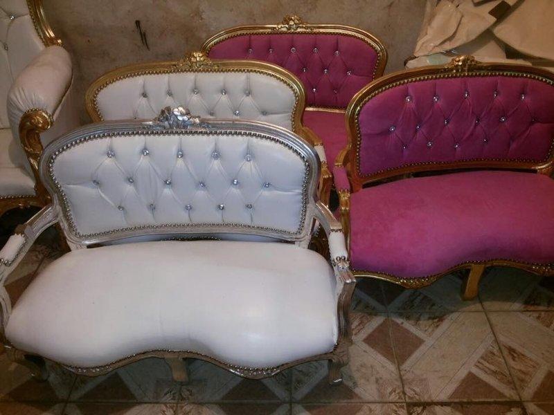 "LC Baroque Sofa white glamor""""s"