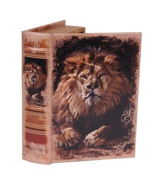 Dutch & Style Boîte livre 23 cm lion