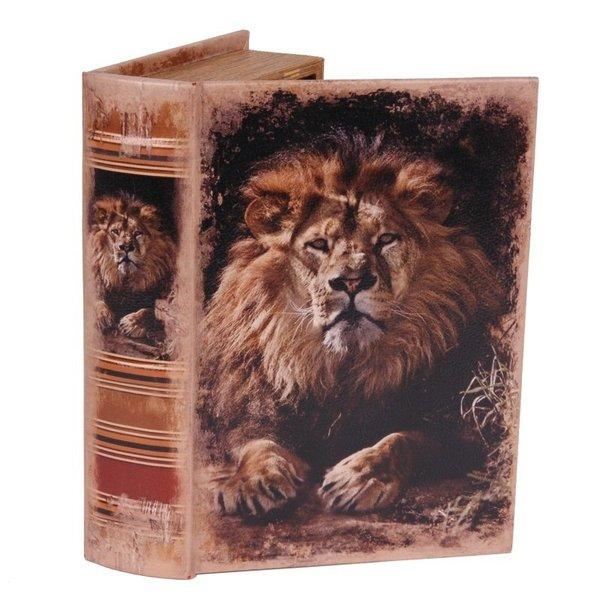 Dutch & Style Book box 23 cm lion