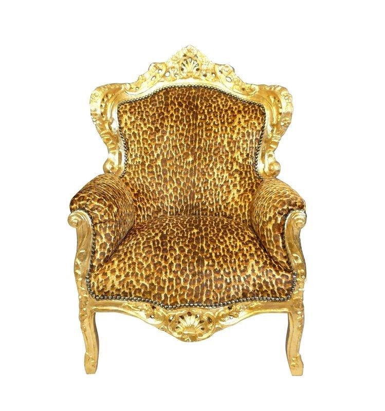 LC  Barok Fauteuil Jungle Leopard