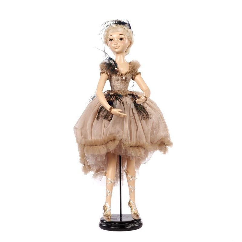 Good Will  PEACOCK BALLERINA W/STAND CRM 65CM