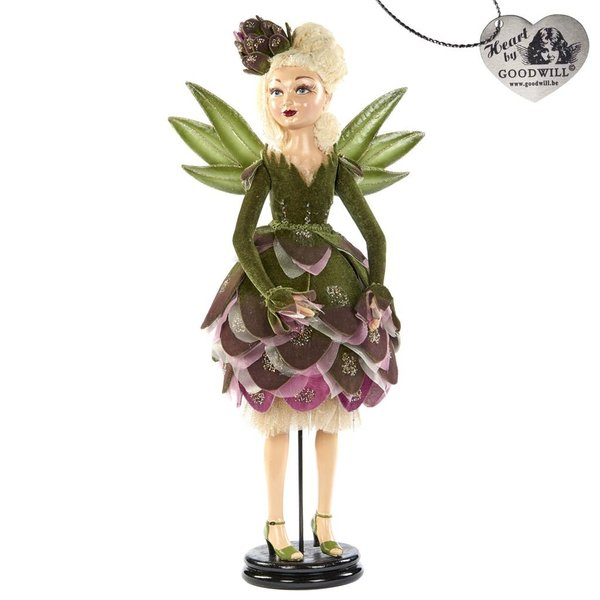 Good Will  ARTICHOKE FAIRY DOLL WITH STAND