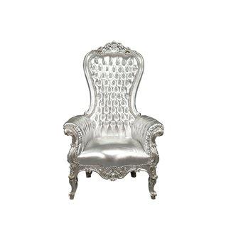LC Baroque thrones model Diva silver sky