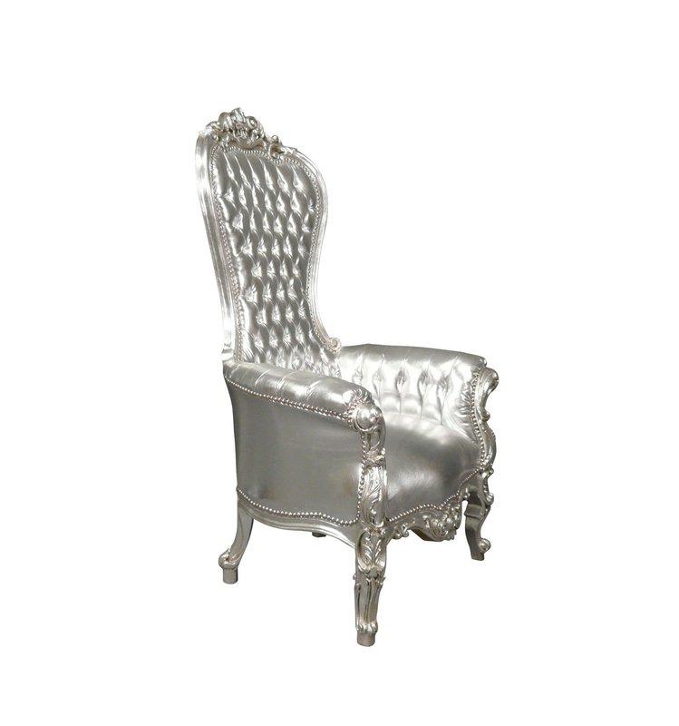 LC Barok  tronen model  Diva zilver sky