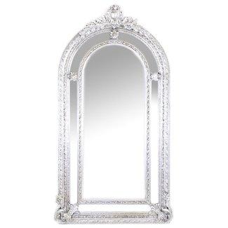 Baroque Mirror XXL Silver Versaille