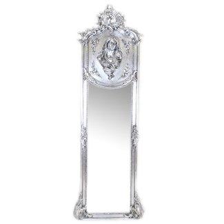 Miroir baroque pleine longueur Madonna Silver