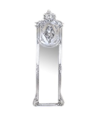 Baroque full-length mirror Madonna Silver