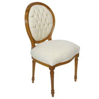 Chaise de salle à manger médaillon Sienna-Cream