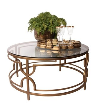 Dutch & Style Belize ronde  salon  tafel  goud