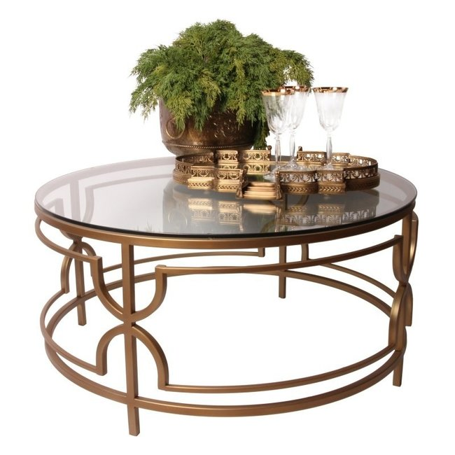 Dutch & Style Belize round coffee table gold