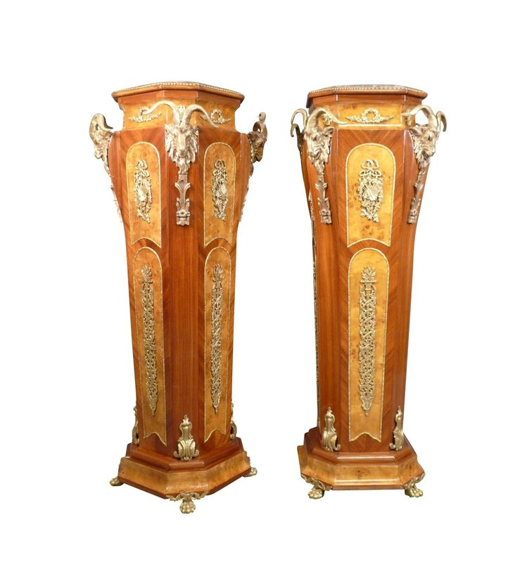 Royal Decoration   Baroque Bronze Pillars Columns Quintus