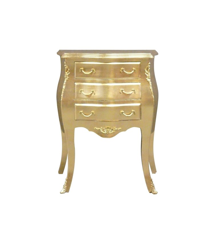 Baroque dining room chair gold zwart