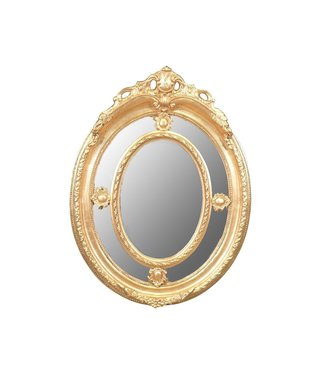 Miroir baroque Anne-Fleur Silver