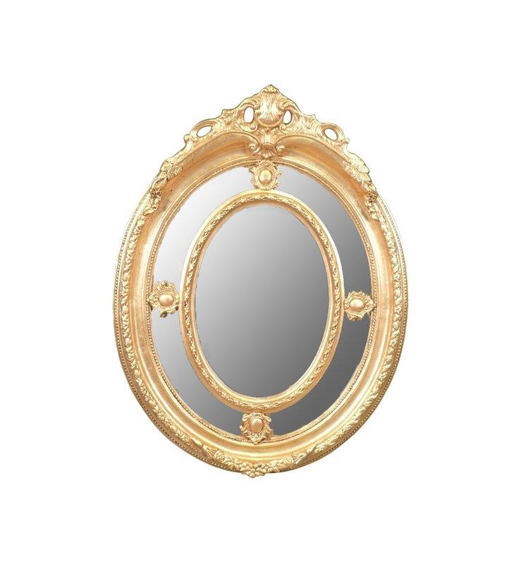 Baroque mirror Anne-Fleur Silver