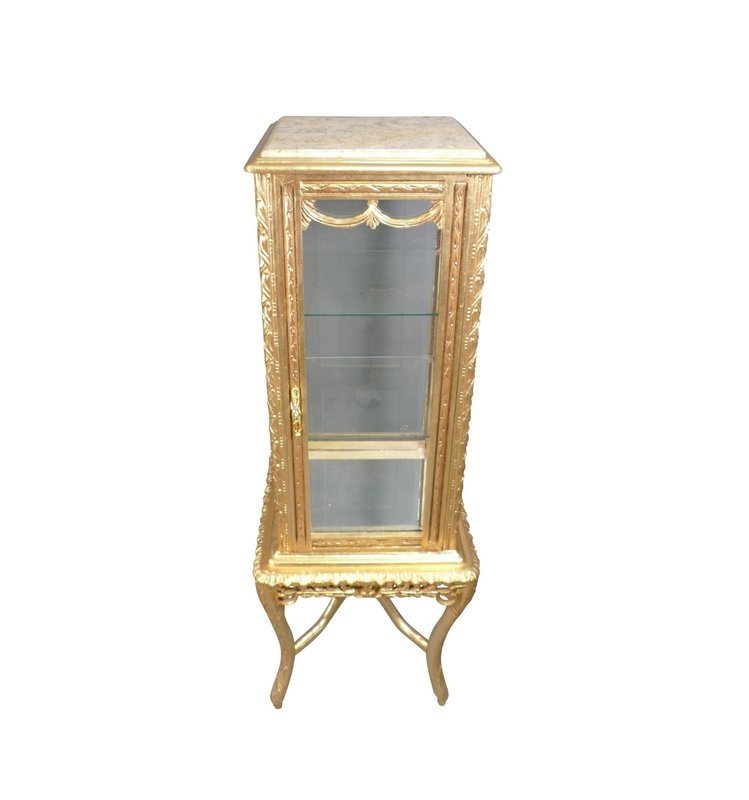 Baroque Showcase Cabinet Madilon Door Cream