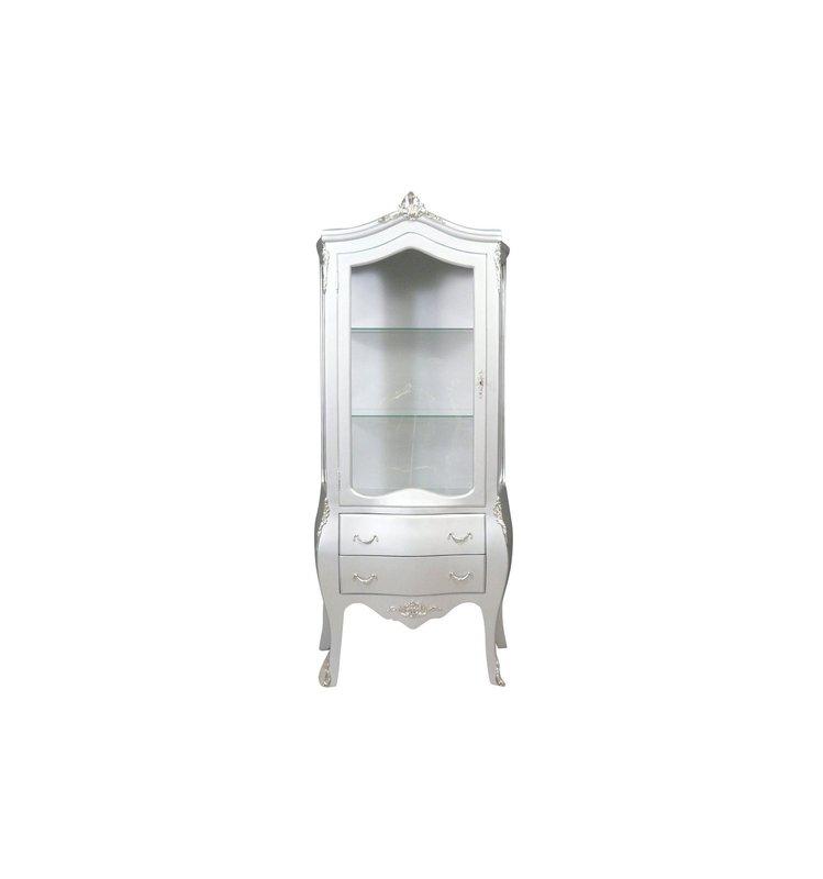 Baroque Showcase Cabinet Madilo -zilver