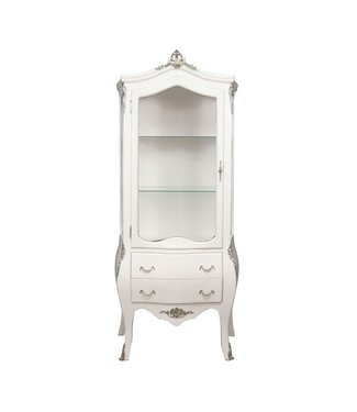 Baroque Showcase Cabinet Madilon 1-Door Wit