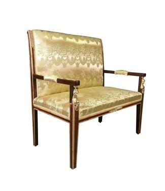 Barok Sofa De luxe mahonie -Goud