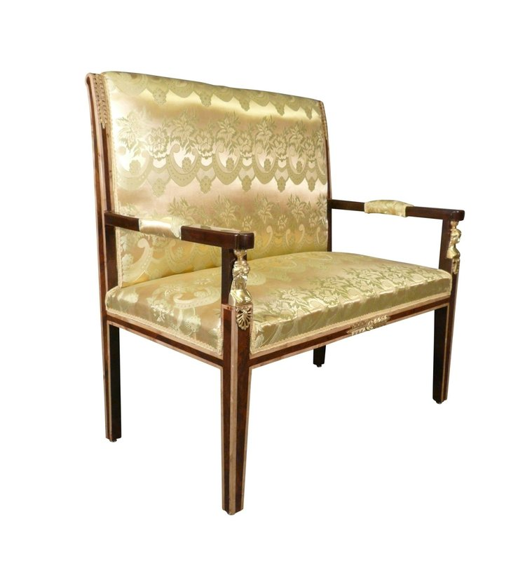 Barok Sofa Deluxe Mahonie-Goud