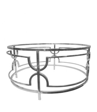 Dutch & Style Belize ronde  salon  tafel  zilver