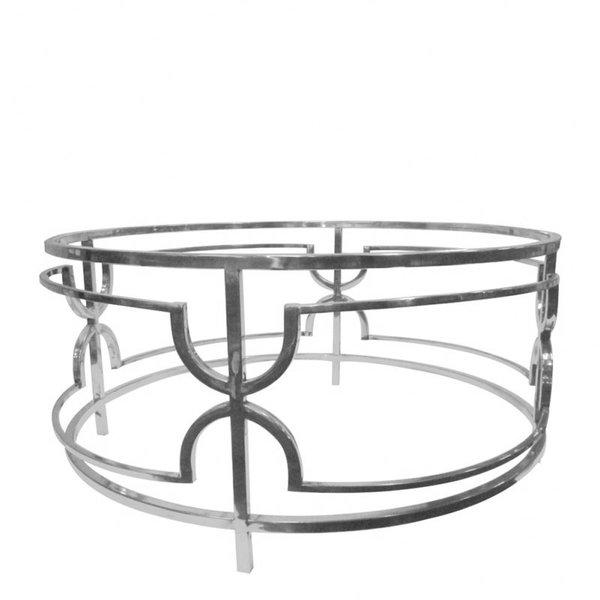 Dutch & Style Belize ronde  salon  tafel  zilver