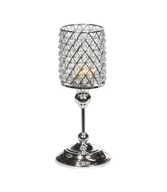 Good Will  MET.JEWEL CANDLE HOLDER ON STAND TT SLV 30CM