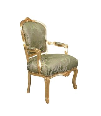 LC Chaise longue baroque Napoli Green flower