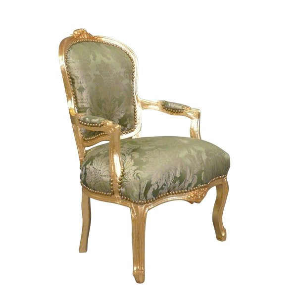LC Barok salon stoel Napoli Green flower