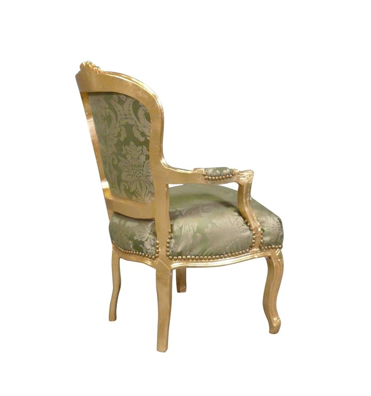 LC Baroque lounge chair Napoli Green flower