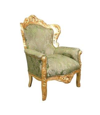 LC Fauteuil baroque vert Napoli