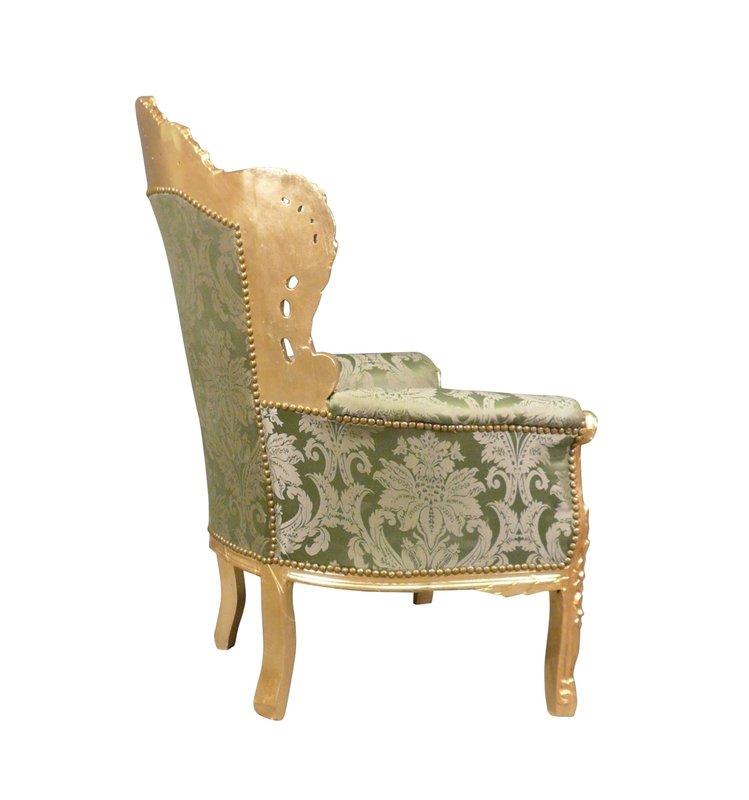 LC  Barok fauteuil groen Napoli